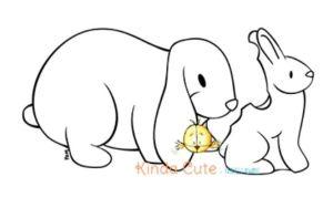 Easter Rabbits Digital Stamps