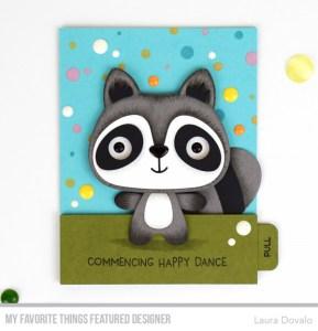 Interactive Dancing Racoon Card