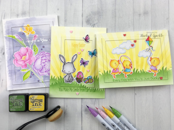 Inlaid Frames Cards for Spring