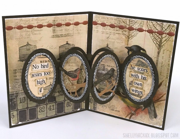 Pop Up Oval Frame Card