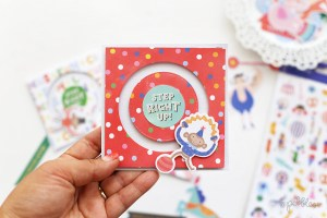 Circus Party Spinner Invite