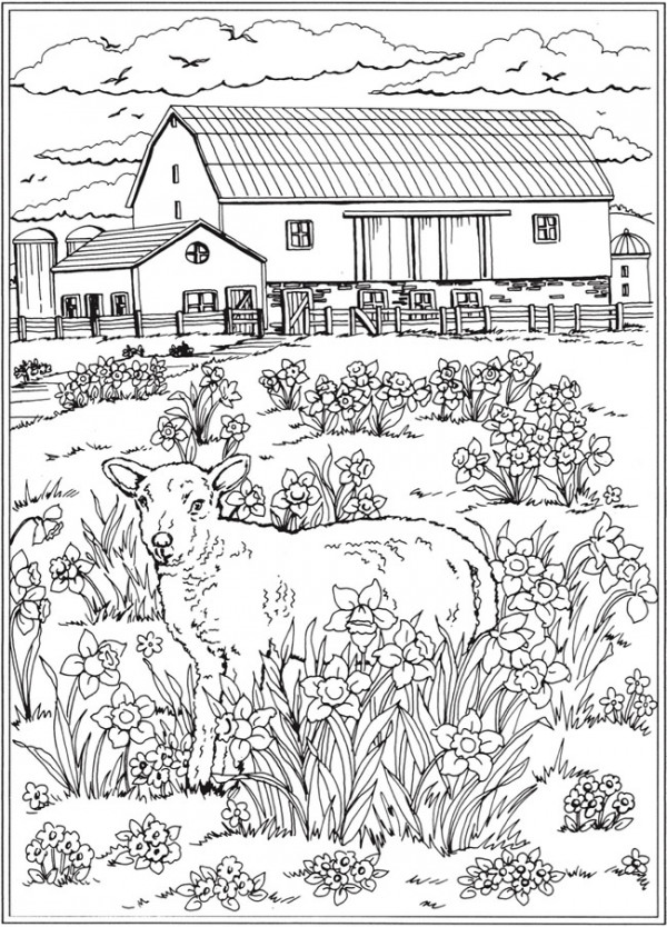 7 Spring Scene Coloring Pages