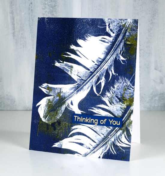 Feather Print Cards