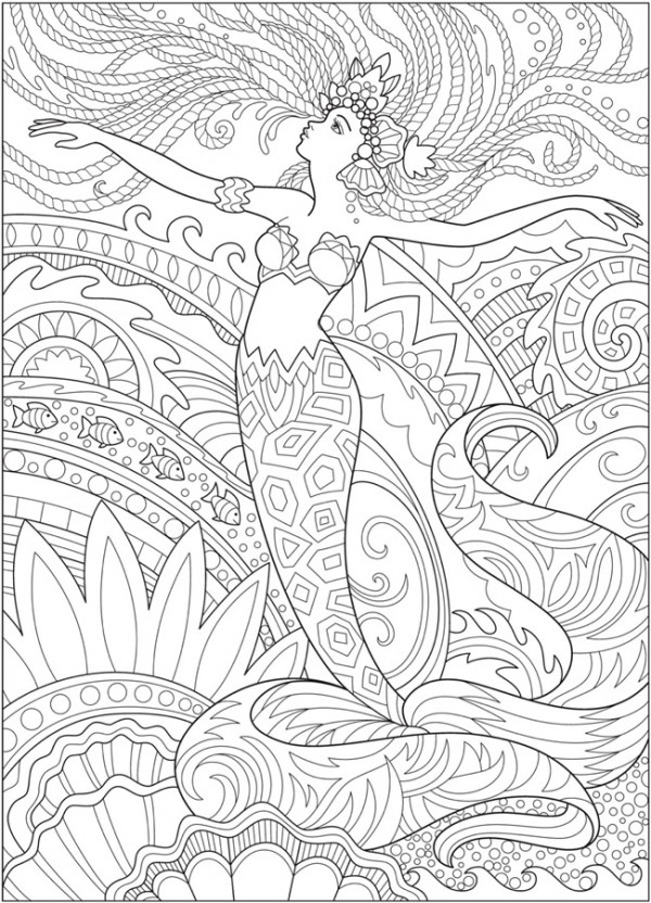 5 Mermaid Coloring Pages