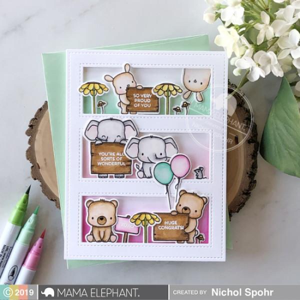 Tri Window Animals Card