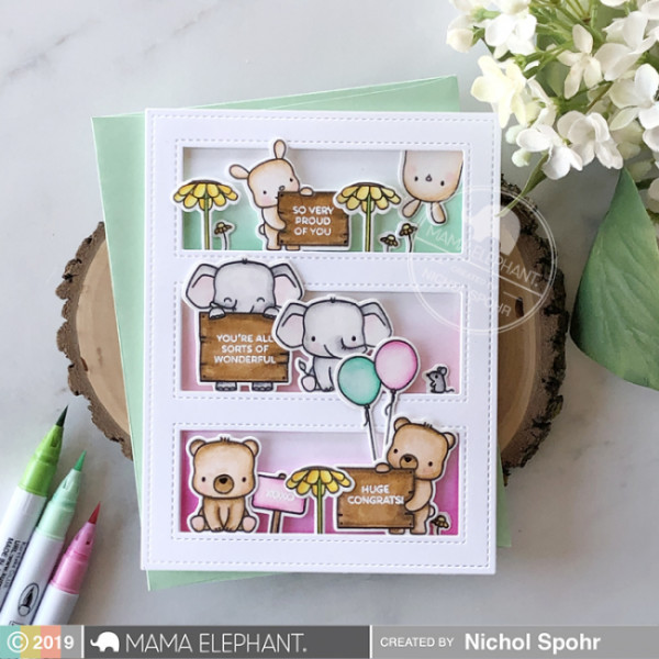 Tri Window Animals Card