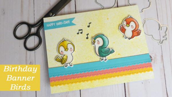 Birthday Banner Birds Card
