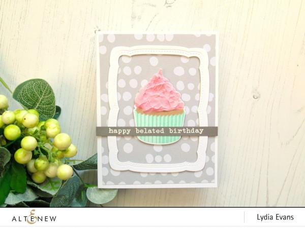 Textured Cupcake Card