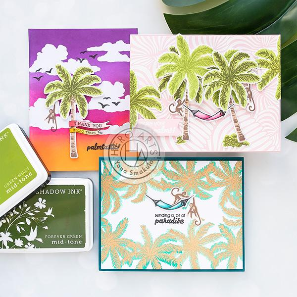 3 Palm Tree Cards
