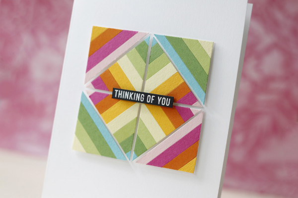 Geometric Card with Paper Strips