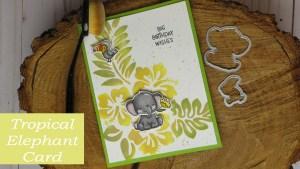 Tropical Elephant Card