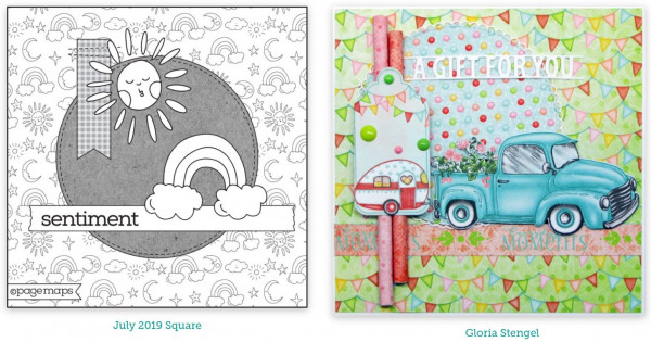 Card Maps Stamping
