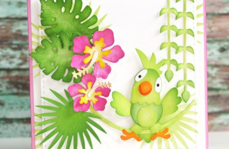 Die Cut Parrot Card