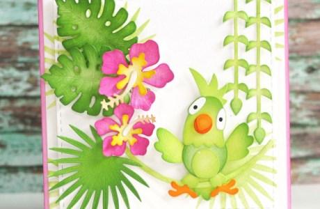 Die Cut Parrot Card