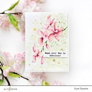 No Line Coloring Floral Card