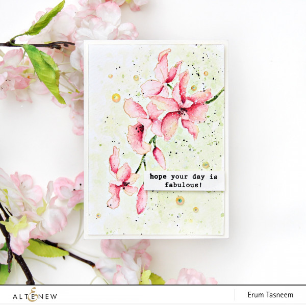 No Line Coloring Floral Card