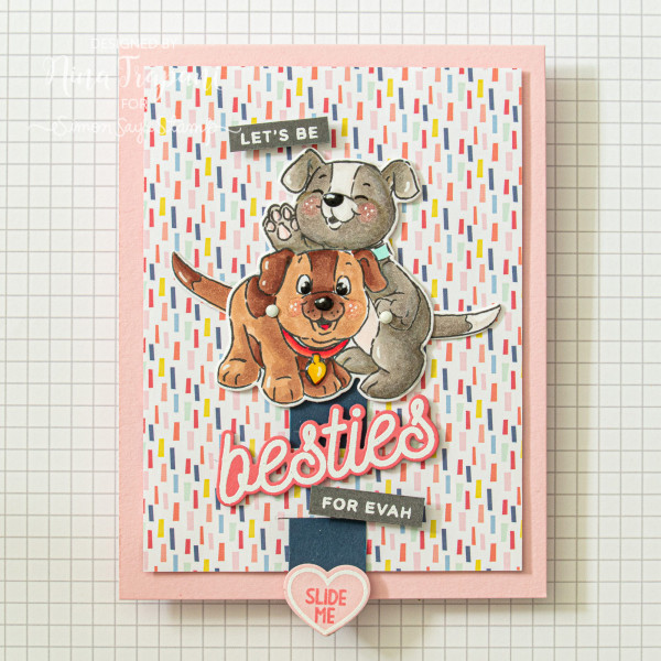 Wagging Puppy Tails Card