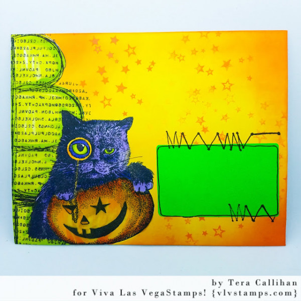 Halloween Mail Art Envelope