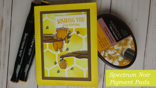Honey Bear Card with Opaque Pigment Inks