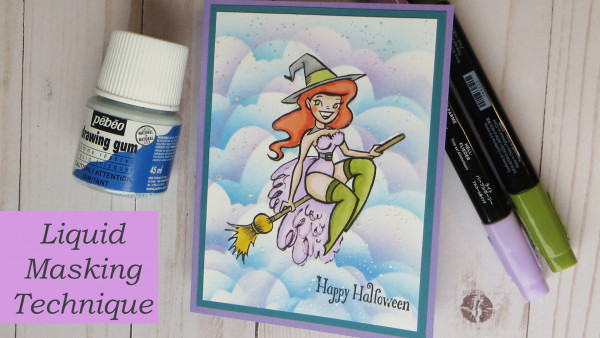 How to Using Liquid Masking Fluid with Digi Stamps