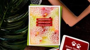 Ink Techniques Autumn Card