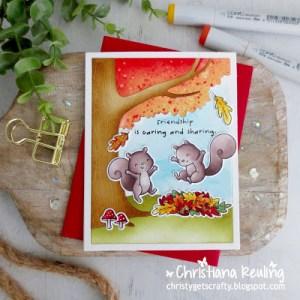 Fall Squirrels Card