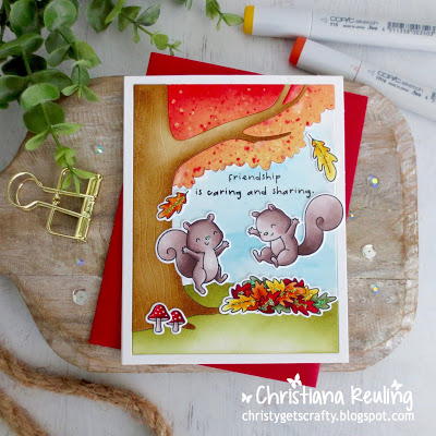 Fall Squirrels Card