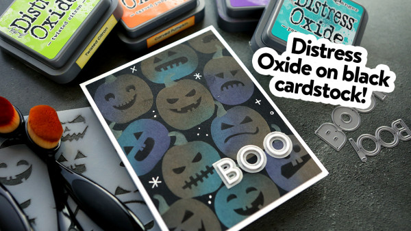 Distress Oxide Pumpkin Card