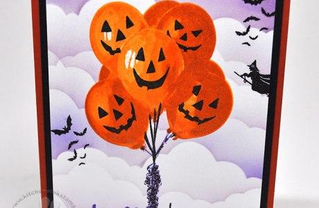Halloween Balloons Card