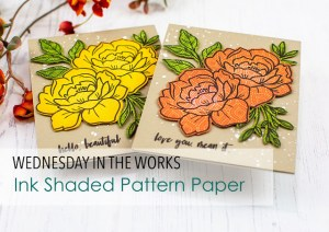 Stamping and Shading on Pattern Papers
