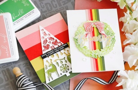 Colorful Striped Holiday Cards