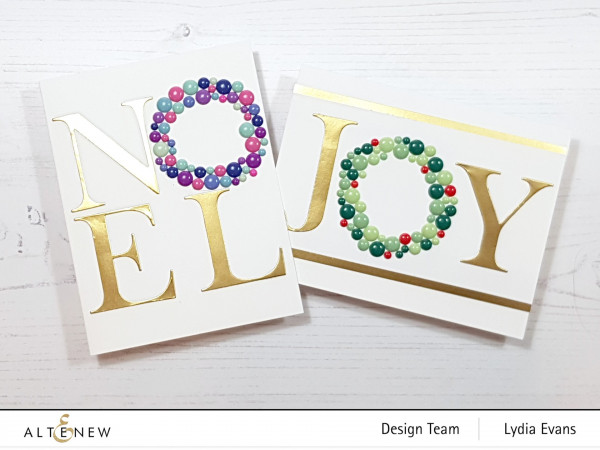 Holiday Wreath Letter Cards