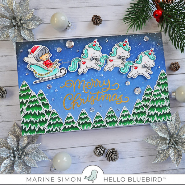 Mrs. Claus and Unicorns Card