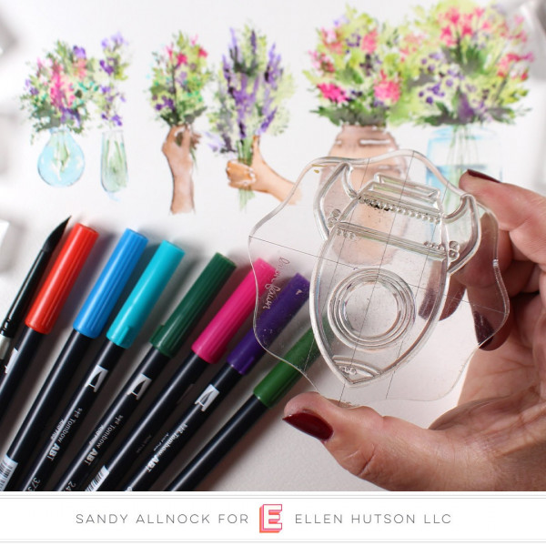 Create Flower Vases from Other Stamps