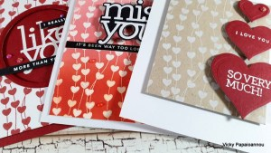 Heart Background Stamp used 3 Ways