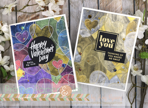 Metallic Watercolor Valentines