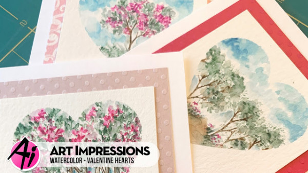 Watercolor Heart Cards