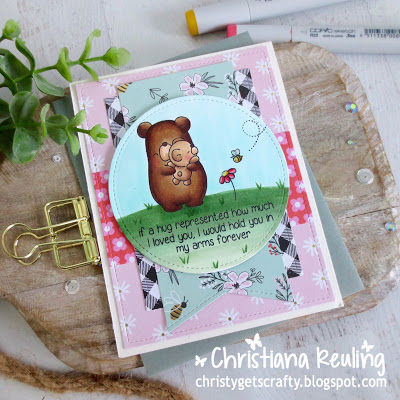 1 Stamp Set 4 Ways - Bear Cards