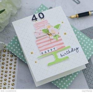 Custom Birthday Cake Cards