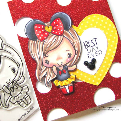Copic Coloring for Disney Girl Card