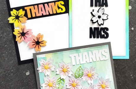 3 Thank You Flower Cards