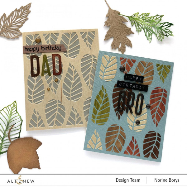 Masculine Cards with Wood Paper