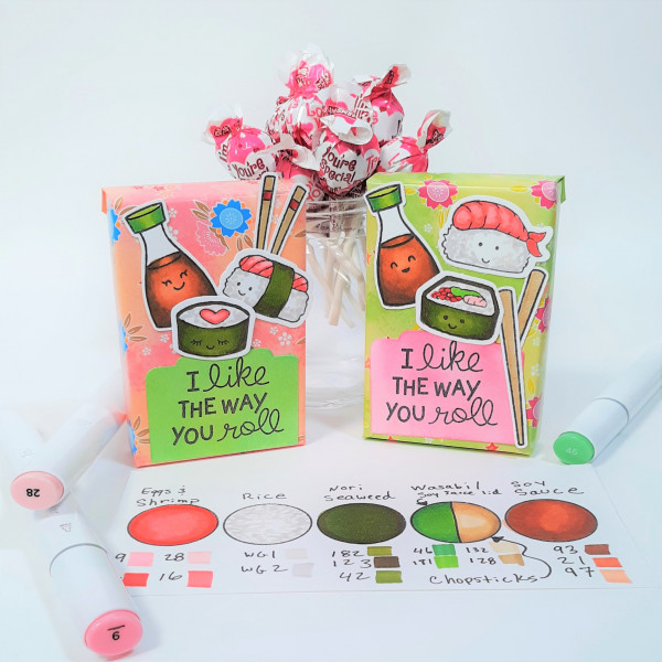 Sushi Valentine Candy Boxes