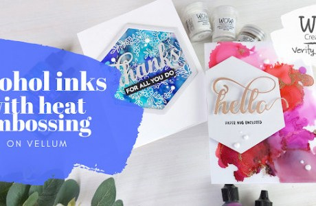Alcohol and Embossing Card Backgrounds