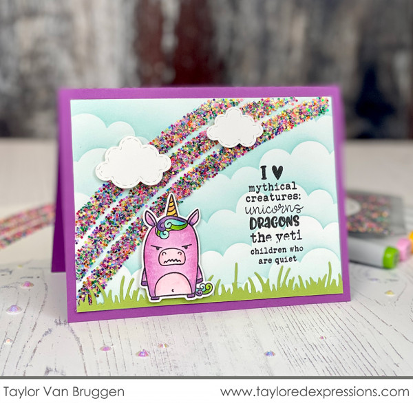 Funny Grumpy Unicorn Card