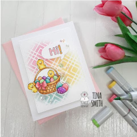 Easter Basket and Chicks Card