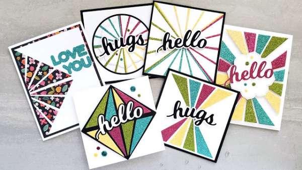 Glitter Sun Ray Cards