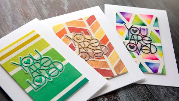 Watercolor Card Designs with Painters Tape