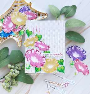 Morning Glory Card with New Style Layering Stamps