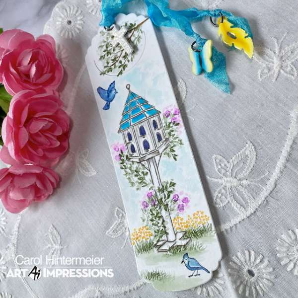Stamped Book Mark with Charms